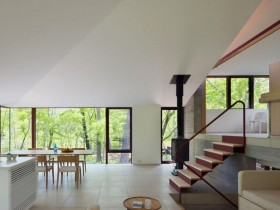 The cottage in a minimalist style
