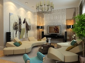 Luxury living room fusion