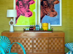 The idea of room design in the style of pop art