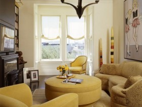 Living room interior with pop art details