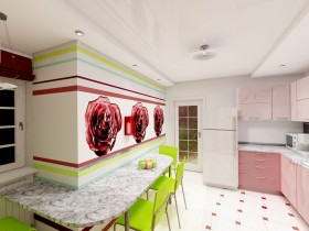 Kitchen in the style of pop art