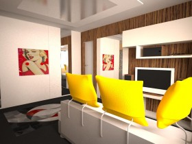Pop art in living room design