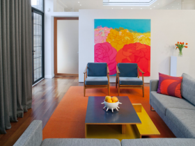 Living room with elements of pop art