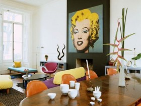 The pop art style in interior