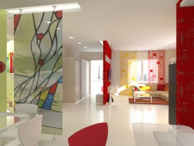 Apartment in style pop art
