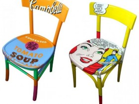 Chairs in the style of pop art