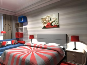 Bedroom design pop art
