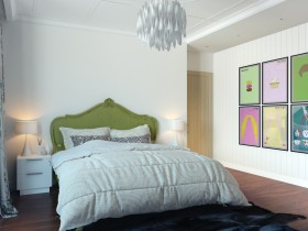 Bedroom interior with pop art details