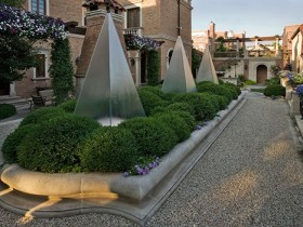 Idea of design of the Italian garden