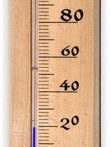 Mercury thermometer for the bath