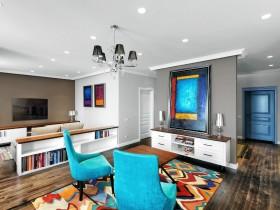 Дизайн интерьера гостиной в стиле китч