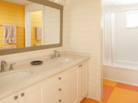 Bathroom orange color