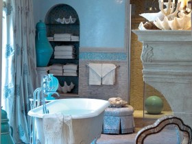 The idea of design bright bathroom