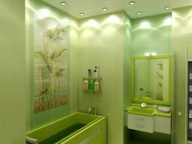 Bathroom light green color