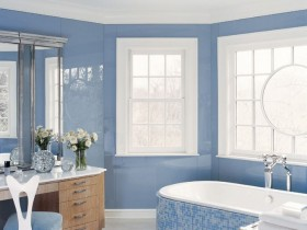 Bathroom blue color