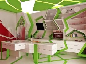 Kitchen style deconstructivism