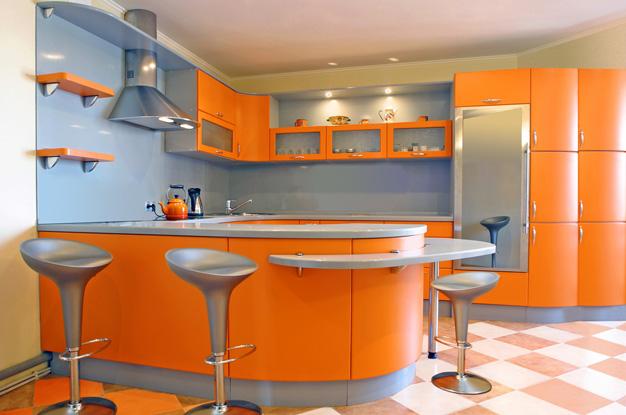Современные кухни дизайн с барной стойкой