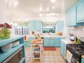 Bright kitchen in country style