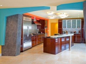 Modern design bright kitchen