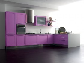 Purple kitchen minimalist