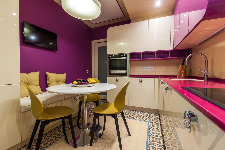 Идеи для кухни 12 кв.м фото с диваном