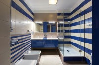 White-blue bathroom