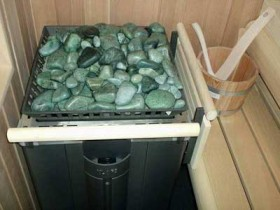 Jadeite for furnaces in the bath