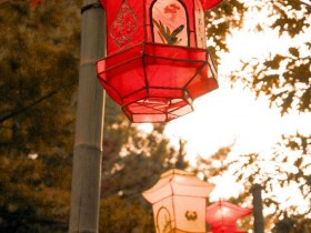 Garden lanterns in the Chinese style