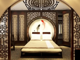 Bed in a modern Chinese style