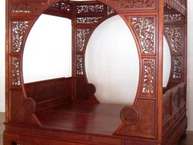 Bed in a traditional Chinese design