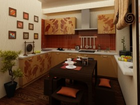 Kitchen design in Chinese style