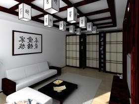 Modern living room in Chinese style