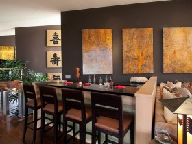 The interior of dining room in Chinese style