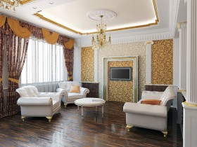 Design furniture in classic living room