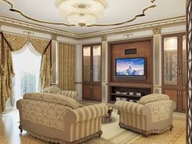 Велика вітальня в класичному стилі