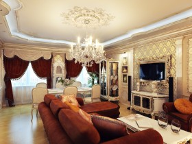 Lounge in the style of classicism