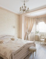 Beautiful classic bedroom in light tones