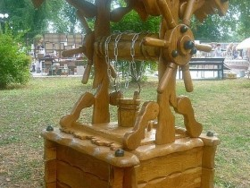 Beautiful wooden well