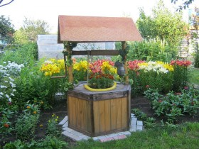 Flower well on a country site