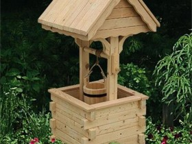 Simple design wooden well
