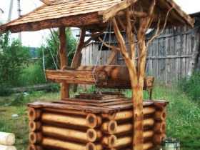 Creative wooden well