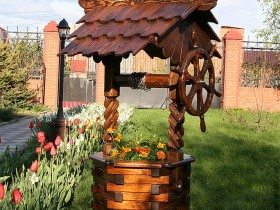 The stylish design of the Russian well