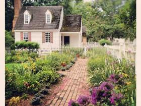 Part of garden in colonial style