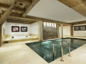 Rectangular indoor pool in the cottage (another type)