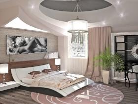 Інтэр'ер спальні ў стылі гань-цёк