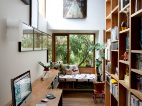 Private office with wood Desk and wardrobe