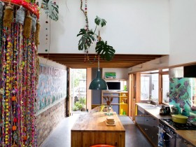 The design of the kitchen interior in the style of kitsch