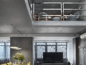 Серый двухэтажный коттедж в стиле конструктивизм
