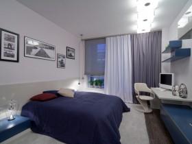 Zamonaviy uslubda yorqin bedroom