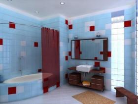 Modern design large bathroom